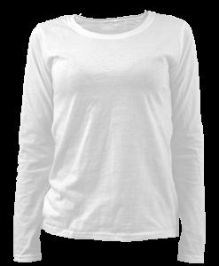 Damska bluza s dylyg rykav za shampovane